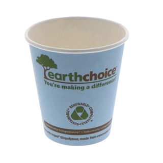 10 oz Compostable Small Paper Hot Cup, Blue, 1,000 ct.