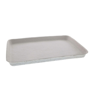 "9"" x 12"" Compostable Fiber Blend Cafeteria Tray, Natural, 250 ct."