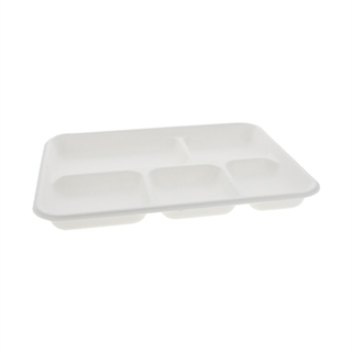 Fiber Blend 5 Comp. School Lunch Tray