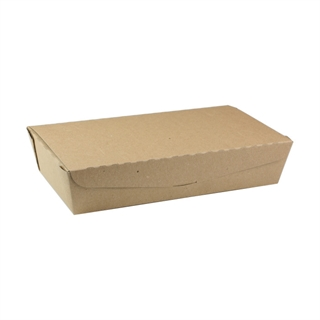 "#2, 9.0"" X 4.85"" X 2.0"", 55 oz. OneBox®Compostable Paper Kraft Box, 100 ct."