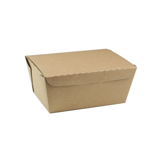 "#3, 6.5"" X 4.5"" X 3.25"", 66 oz. OneBox® Compostable Paper Kraft Box, 160 ct."