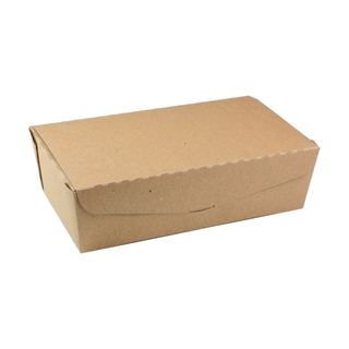 "#4, 9"" X 4.85"" X 2.7"",  77 oz. OneBox® Compostable Paper Kraft Box, 162 ct."