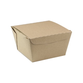 "#8, 4.5"" X 4.5"" X 3.25"",  46 oz. OneBox® Compostable Paper Kraft Box, 200 ct."