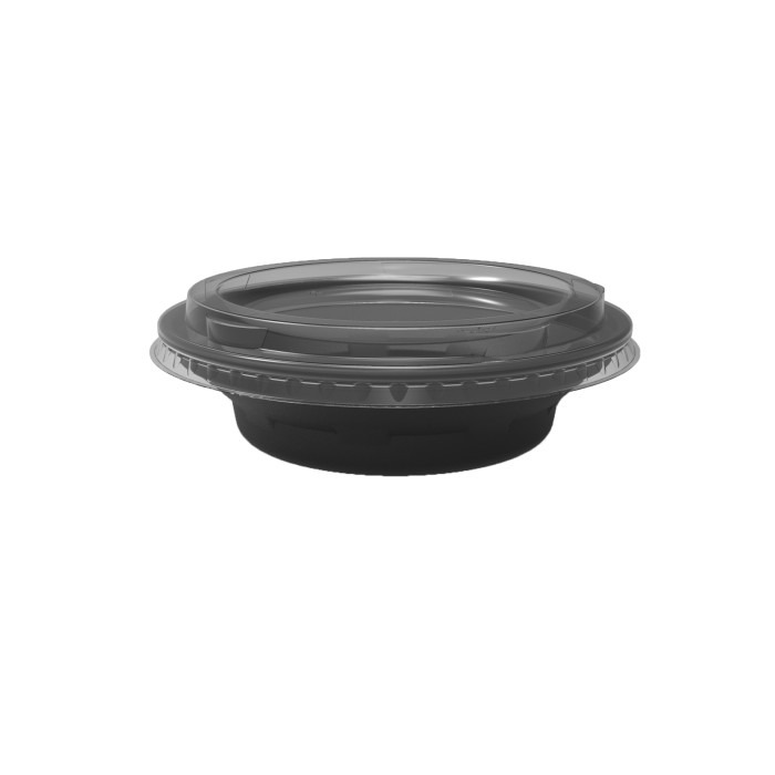 5/6 oz. Deli2Go™ Plastic Microwavable Side Container Base, Black, 900 ct.