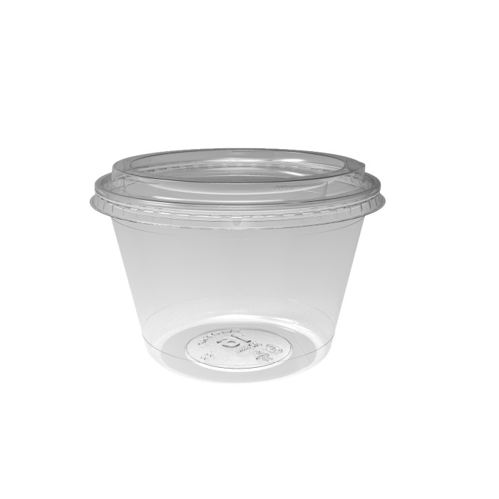 16 oz. Deli2Go™ Plastic Microwavable Side Container Base, Natural, 900 ct.