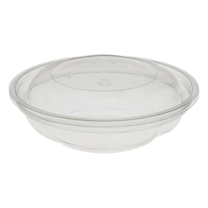 "5"", 8 oz Round Take Out Swirl Bowl With Lid Combo, Clear, 280 ct."