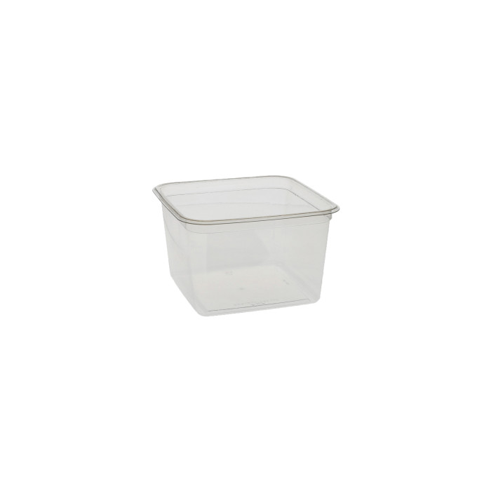 "6"", 48 oz Recycled Plastic Square Takeout Container, Clear, 360 ct."