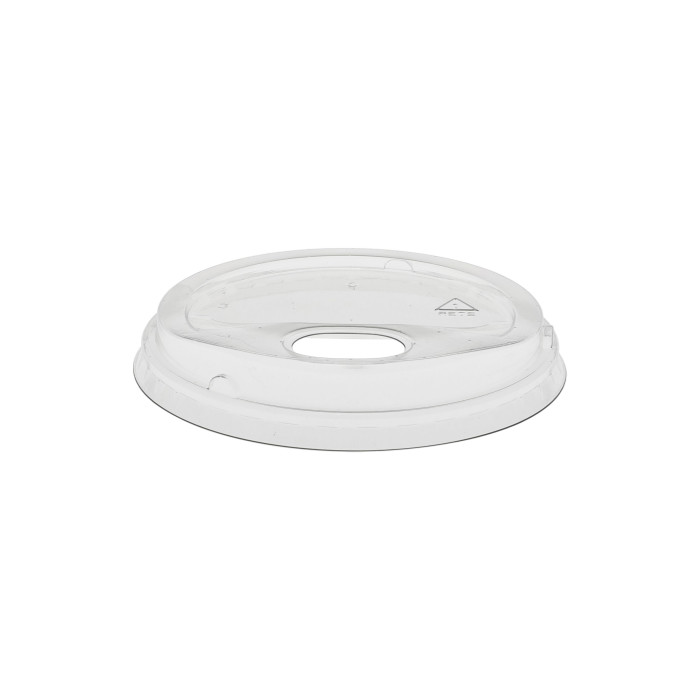 Recycled Plastic (RPET) Strawless Lid for 24 oz Cups, Clear, 1080 ct.