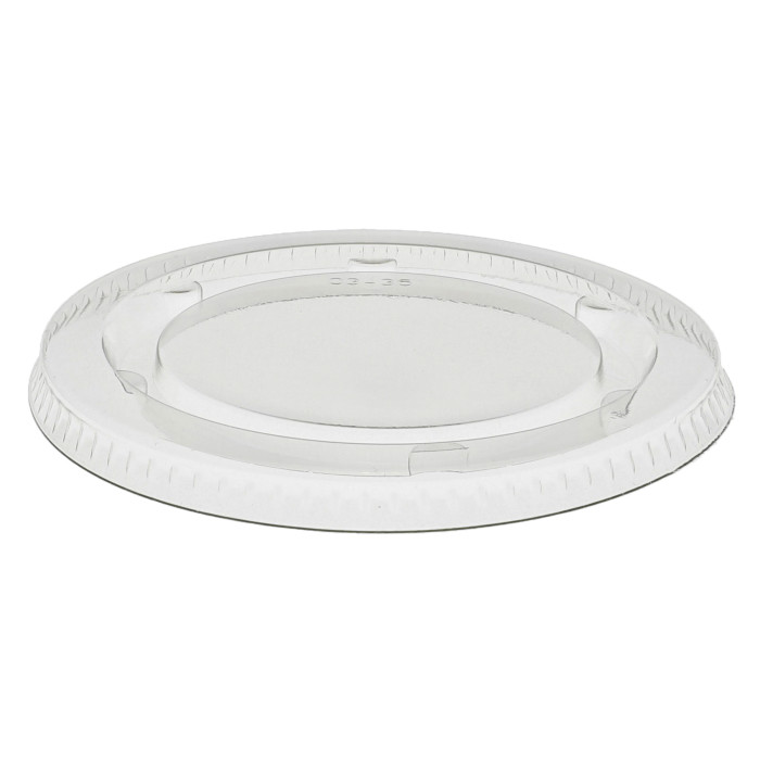 Recycled Plastic Flat Lid for 3-4 oz Portion Cup, Clear, 2,400 ct.