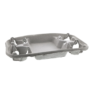 4 Cup Fiber Blend Universal Cup Carrier with Food Tray, 210 ct.