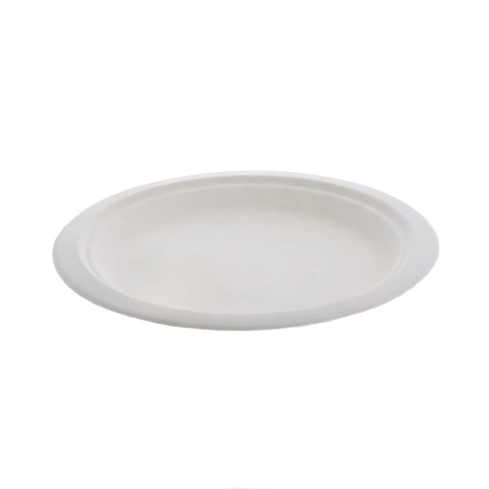 "9"" Compostable Fiber-Blend Plate, Natural, 500 ct."
