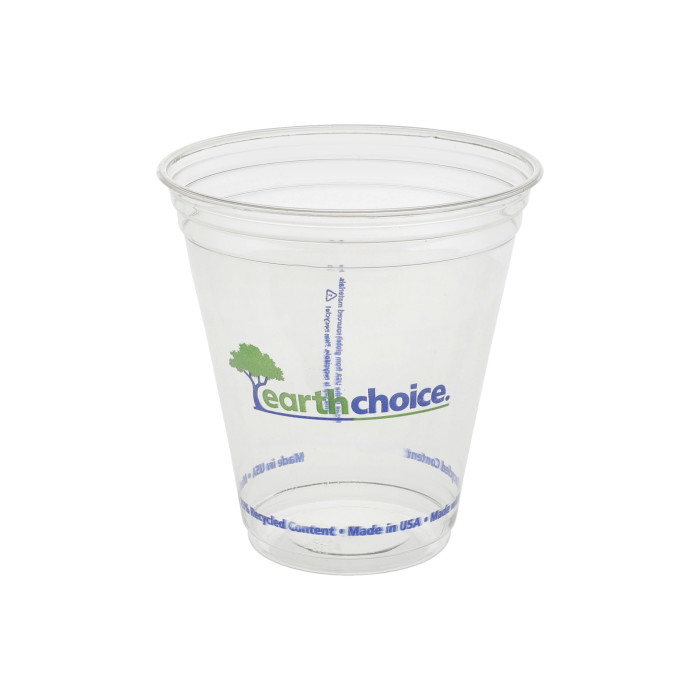 14/12oz Recycled Plastic Clear Printed Cup, 700 ct.