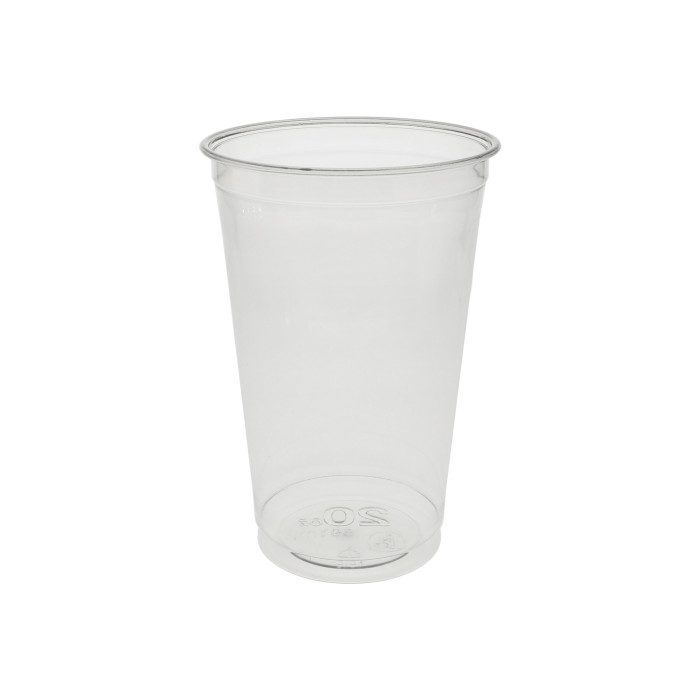 20 oz. Recycled Plastic Cold Cup, Clear, 600 ct.
