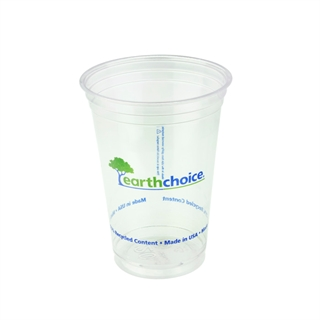 20oz Recycled Plastic Clear Printed Cup, 600 ct.