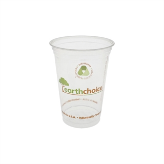 20 oz. Compostable Printed Cold Cup, Clear, 600 ct.