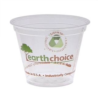 9 oz. Compostable Printed Cold Cup, Clear, 975 ct.
