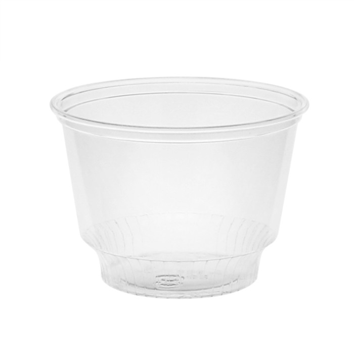 8 oz. Recycled Plastic Sundae Cup, Clear, 900 ct.