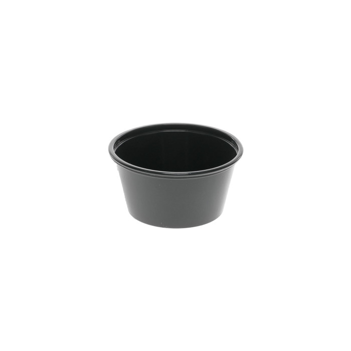 2 oz. Plastic Microwavable Portion Cup, Black, 2,400 ct.
