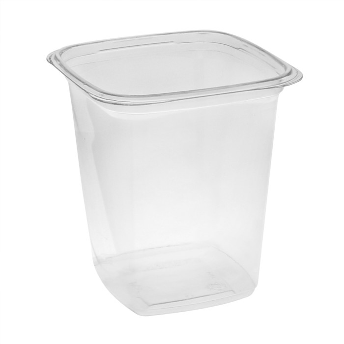 "4"" 32oz Square Container Clear"