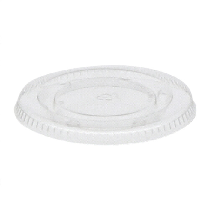 2 oz Compostable Portion Cup Lid, Clear, 2,400 ct.